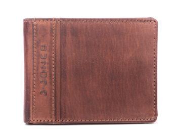 Portfel męski skórzany vintage duży brązowy J Jones