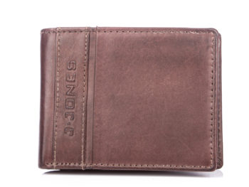 Ciemnobrązowy portfel męski J Jones 5705