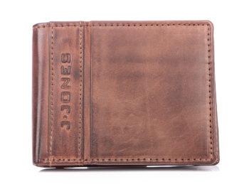 Portfel męski skórzany poręczny J Jones brązowy