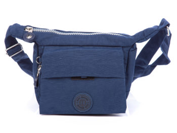 Mała lekka torba na ramię niebieska