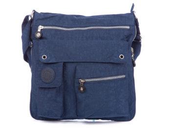 Poszerzana niebieska torba materiałowa Bag Street